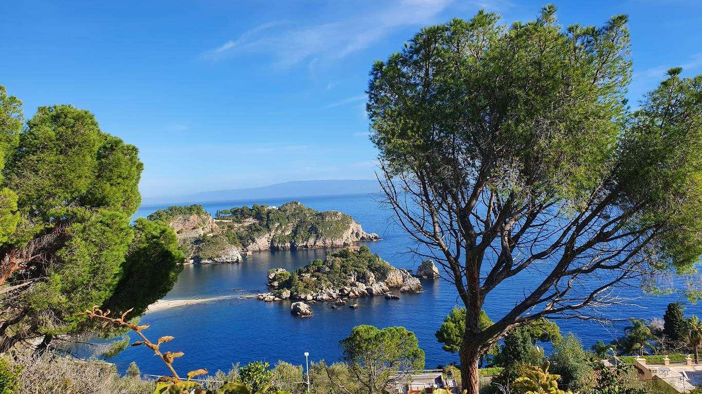 sicilia taormina isola bella